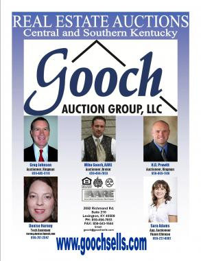 Ad for Gooch Auction Group for KAA (Kentucky Auctioneers Association)